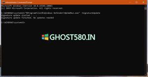 如何仅使用命令即可更新Windows10防病毒软件
